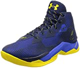 Under Armour UA Curry 2.5 Basketball Shoes (7.0, Black/Royal Blue/Yellow)
