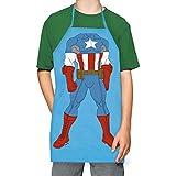ICUP Marvel - Captain America Character Kids 100% Cotton Light Blue Apron