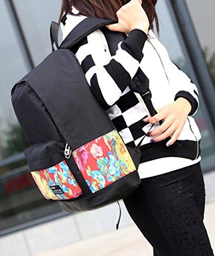 Longzibog Einfache und Modedesign. Nie aus der Mode. 2016 Neue Maedchen Rucksack Schulranzen Mehrfarbig 1