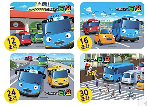 Little Bus TAYO Puzzle 5pcs (10, 15, 18, 24, 30Pieces) by Kidsicon (Image #1)