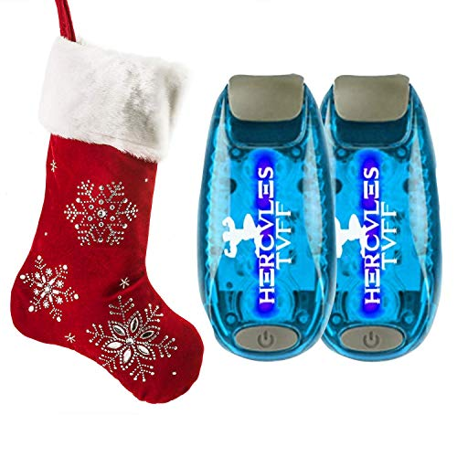Hercules Tuff Safety Lights for Kids [2-Pack] | Running Lights for Runners | Excellent Stocking Stuffer idea for Kids, Teens, Dog Walkers, Bikers & More! ()