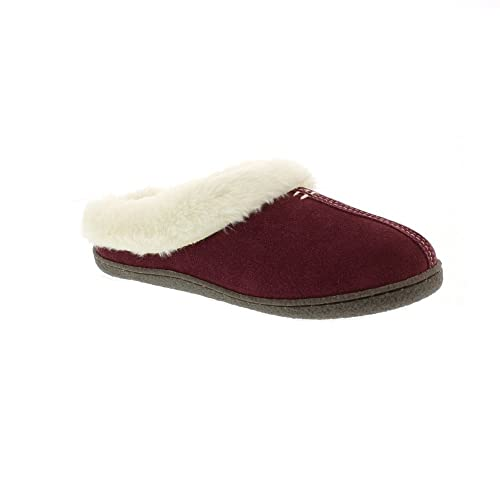 b0ab8df1 Clarks Womens Home Classic Suede Fur Lined Slippers: Amazon.co.uk ...