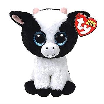 Ty Beanie Boos Peluche Búho Pingüino Perro Jirafa Gato Mapache Oveja Murciélago Ganado Peluche Animal Juguete Regalo para niños 15cm Mantequilla la Vaca: Amazon.es: Juguetes y juegos