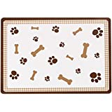 Petface Bones Brown Print Placemat, Orange