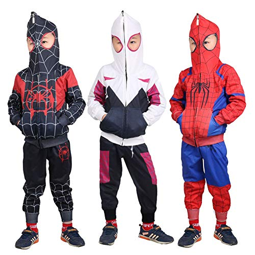 Miles Morales Hoodie,Toddler Kids Spider-Verse Miles Morales Gwen
