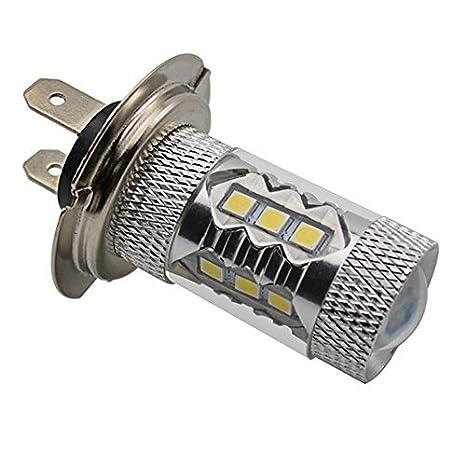 katur H7 80 W 16SMD LED conducción cola niebla luz de los faros luz diurna bombilla: Amazon.es: Coche y moto