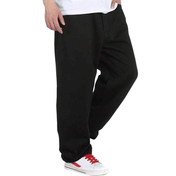 Hanglin Trade Mens Baggy Jeans Denim Sweatpants Loose Pants
