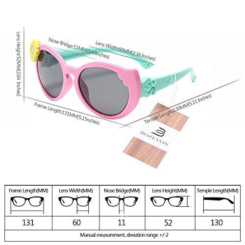 les Unisexes Style pour Enfants BOZEVON UV400 Nouvelles 4 soleil de Polarisées Lunettes vz106zgq
