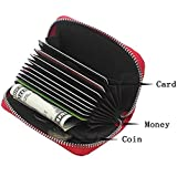 Youna Women's RFID Blocking Genuine Leather Credit Card Holder