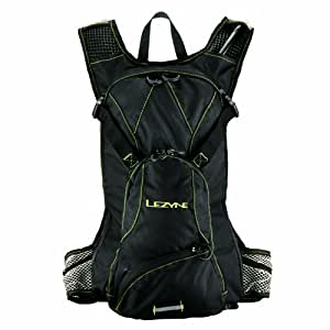 Lezyne HPSPACKV1 04 Svelte - Mochila con bolsa de hidratación y compartimento para sillín, color negro
