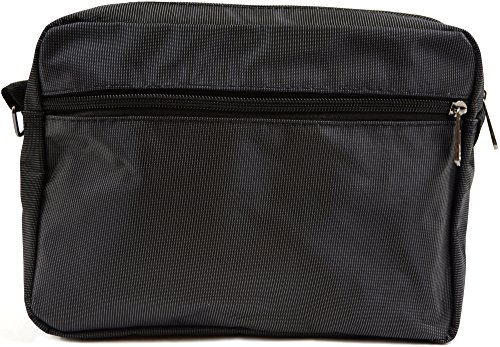 Sleek Canvas Messenger' Shoulder Work Black Mens Travel Bag Ladies 'Small Style 4F5RAqw