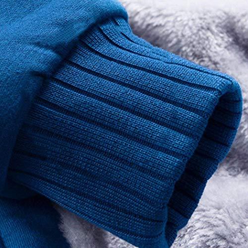 Capispalla Capispalla Invernale da da Uomo Uomo Uomo Caldo A Battercake con Maniche con Lunghe Invernale Velluto Blau Cappuccio Lunghe Comodo in con Giacca Cappuccio Maniche Cappotto Giacca 5PqFxxwR