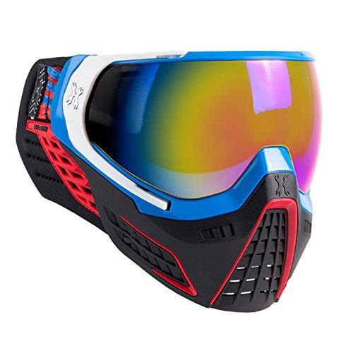 Mask Blue Lens Paintball - HK Army Paintball KLR Thermal Anti-Fog Mask / Goggles (RLGN (Blue/Red/White - Fusion Lens))
