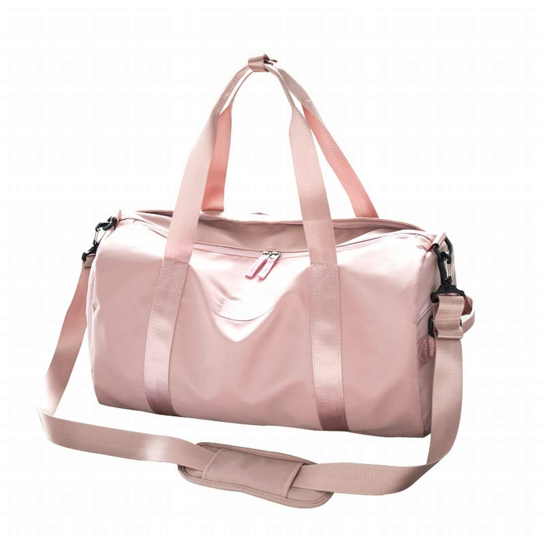Color : Pink, Size : Small Souliyan Sports Fitness Bag Training Package with Shoes Compartment Dry and Wet Separate Baggage Travel Bag for Women Men