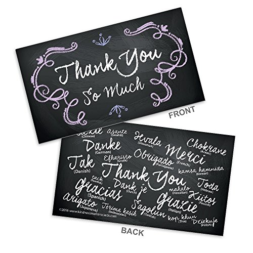House Business Card Case - Chalkboard Colored Thank You Business Cards (3.5