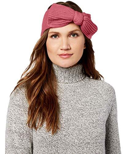 Kate Spade New York Bow Knit Headband, One Size - Azalea Pink (Headband Spade Kate)