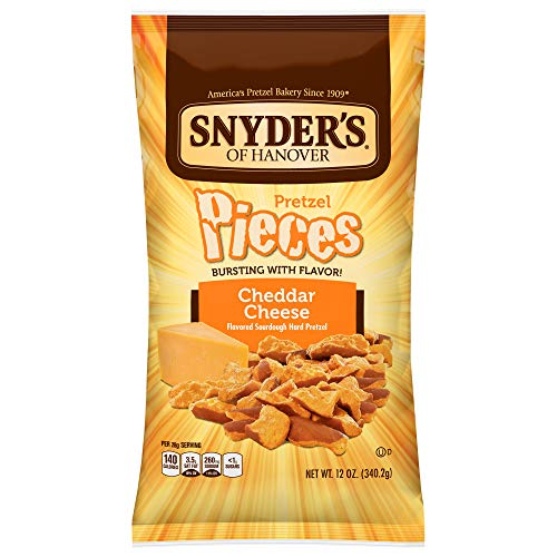 - Snyder's of Hanover Pretzel Pieces, Cheddar Cheese, 12 Ounce (Pack of 12)