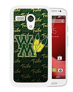 NCAA William Mary Tribe 6 White Motorola Moto X Protective Phone Cover Case