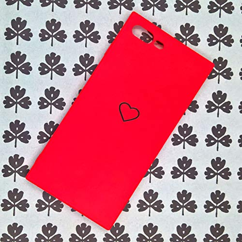 Apple iPhone 6 Plus Case, iPhone 6s Plus Cover Luxury Metallic Cute Sweet Heart Square Shockproof TPU Soft Phone Case Back Cover for iPhone 6 Plus iPhone 6s Plus (Red, for iPhone 6s/6 Plus 5.5