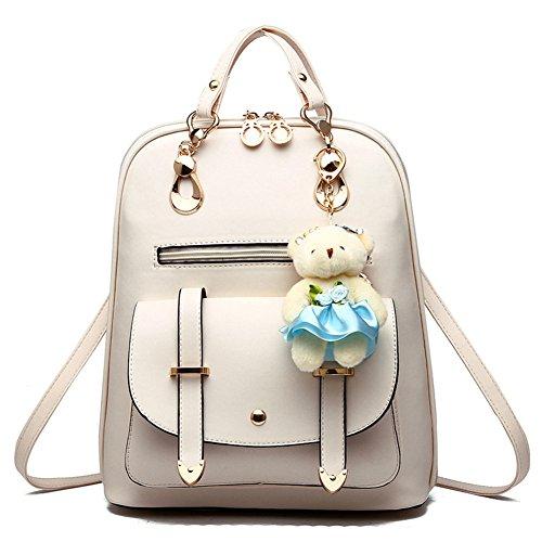 Hynbase Women's Summer Cute Leather Bag Backpack Shoulder Bag