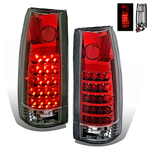 SPPC Red LED Tail Lights For Chevy Full Size - Passenger and Driver Side