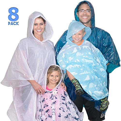 Disposable Rain Poncho Family