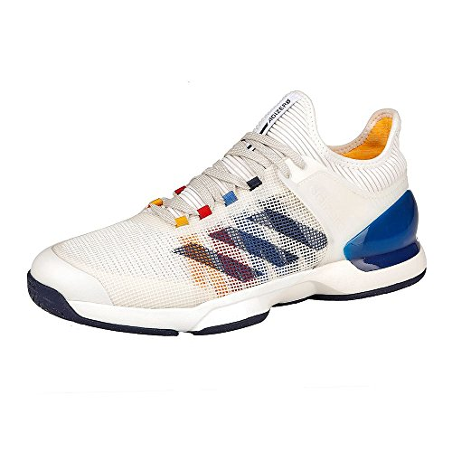 adidas Herren Adizero Ubersonic 2 PW Turnschuhe Mehrfarbig (Ftwbla / Azuosc / Escarl)