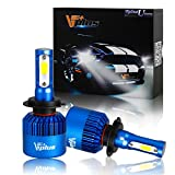 audi a6 quattro wagon 2001 rims - Vplus U Series LED Headlight Bulbs w/ Clear Focused Beam Kit - H7 80W 8,000LM 6500K White COB w/ Fan LED Headlamp Conversion Replace HID & Halogen- (2pcs/set)