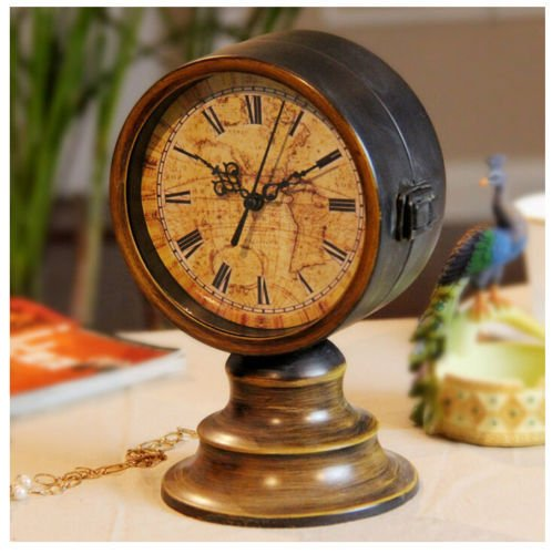 AISSION Wall Clock Reloj de pared Reloj de doble cara Vintage mesa ...