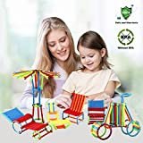 480 Pieces - Elongdi Sticks Building Blocks Kids Educational Toys Stacking Toys Set, Interlocking Building Set, Non-Toxic Clip Connect Building Construction Toy Blocks Stem Toys with a Plastic Bag