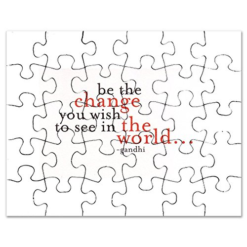 CafePress - Be The Change - Jigsaw Puzzle, 30 pcs. (Christmas Ghandi Quotes)