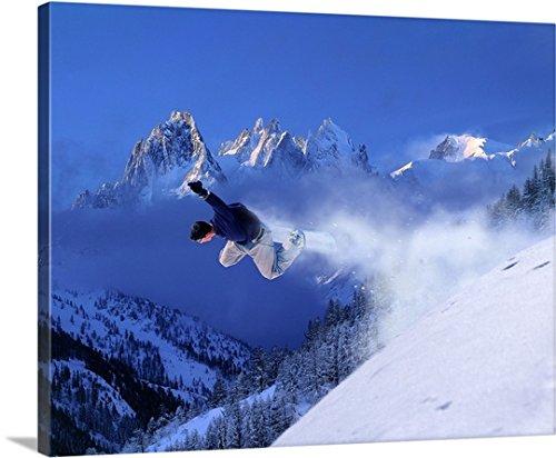 giovanni-simeone-premium-thick-wrap-canvas-wall-art-print-entitled-france-chamonix-snowboard-snowboa