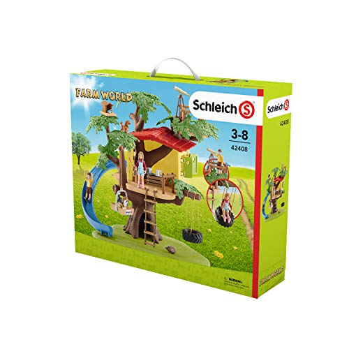 Schleich 42408 Adventure Tree House Play Set, Multicolor