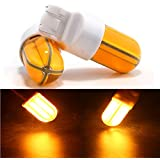 Grandview Amber 7443 W21/5W T20 W3X16Q LED COB Silica 48SMD Car Bulb For Tail Sidelight Indicator Light Bulb Stop Brake Turn Rear 12V(Pack Of 2)