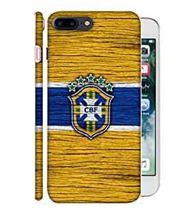 ColorKing Football Brazil 16 Yellow shell case cover for Apple iphone 7 Plus