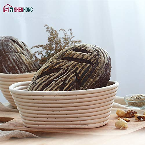 Best Quality - Baking Inserts - 4 Size Oval Dough Rattan Basket Dough Banneton Brotform Bread Proofing Proving Fermentation Country Baskets Factory - by GTIN - 1 PCs ()