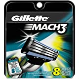 Gillette Mach3 Refill Cartridges, 8 Count- Packaging May Vary