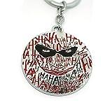 Teri's Boutique Movie Batman Clown Logo Pendant Fashion Jewelry Key Ring Keychain