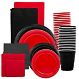 JAM Paper Party Supply Assortment - Red & Black Grad Pack - Plates (2 ...