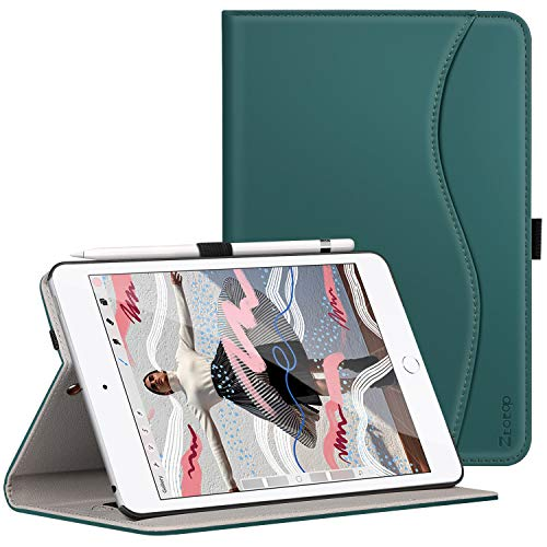 Ztotop for New iPad Mini 5th Gen Case 2019 7.9-inch, Premium Leather Slim Folio Stand Smart Cover Case for iPad Mini 5 2019 with Auto Sleep/Wake, Wallet Pocket, Pencil Strap - Green Smart Apple Ipad Cover Mini