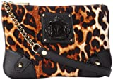 Juicy Couture Animal Printed Velour Louisa YHRU3671 Cross Body Bag,NATURAL,One Size, Bags Central