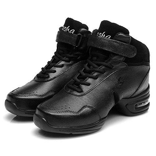 Leather 1 Men Dance B53 Ballroom and Shoes Modern Sports Sneaker Dance Sneakers Boost B52 Jazz B51 Model Performance Womens Black Roymall tdwqAXx5Rt