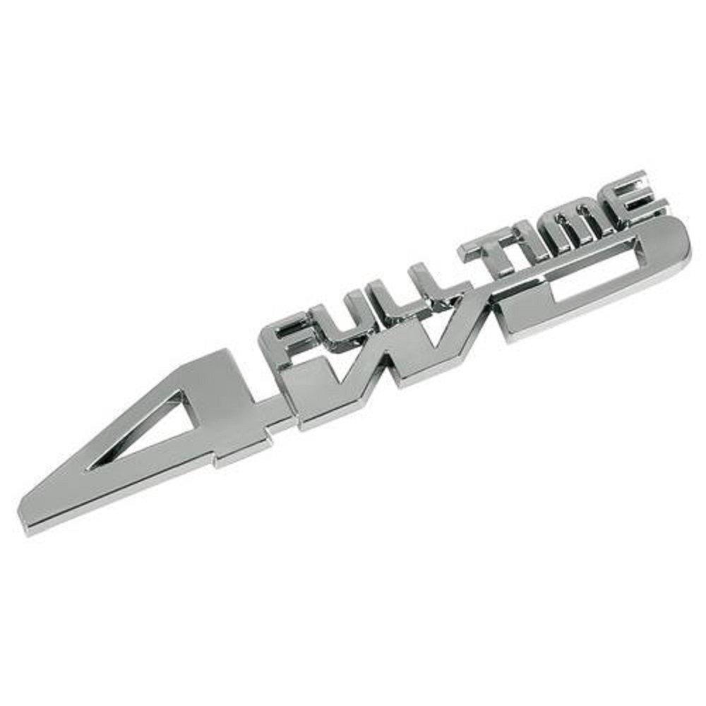 Emblem FULL TIME 4WD 4x4 Allrad SUV Schriftzug Heck 3D Aufkleber ...