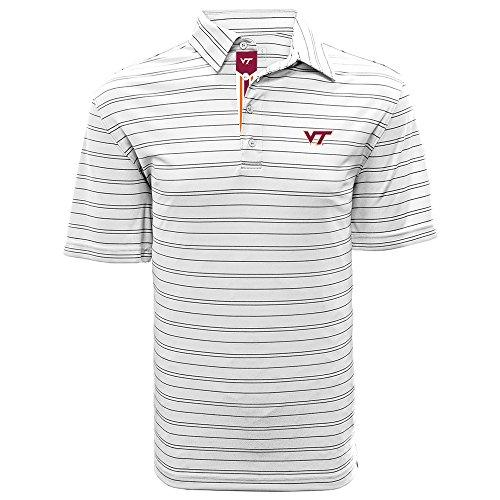(Levelwear LEY9R NCAA Virginia Tech Hokies Men's Deion Banner Stripe Polo, X-Large, White/Black)