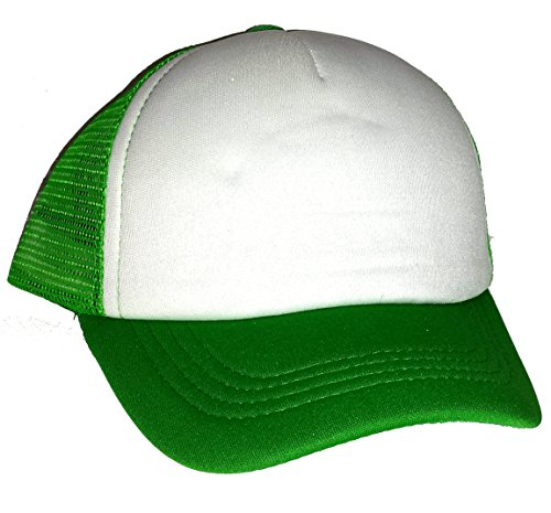 Toddler Kid s Blank Mesh Trucker Hat Cap Snapback (Green   - Import ... 1393667737e