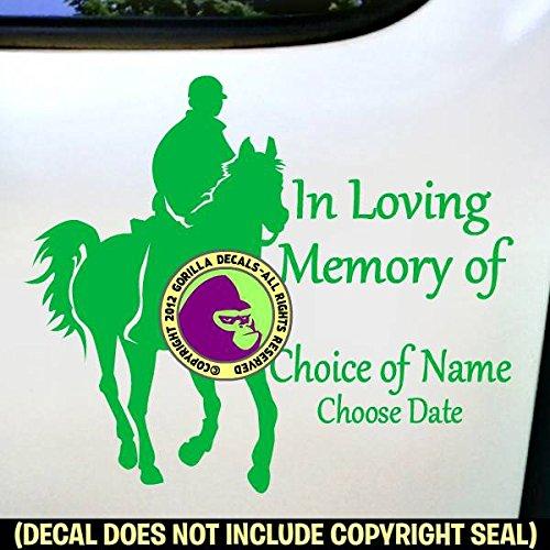 MEMORIAL ENDURANCE Horse Rider ADD CUSTOM WORDS Vinyl Decal Sticker F