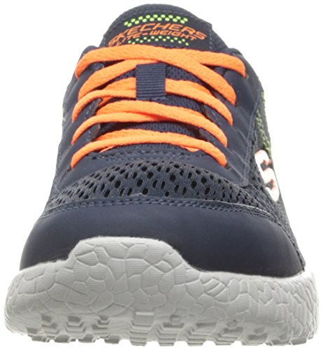 Skechers Boys Burst-in The Mix Sneaker,Little Kid (4-8 Years),Navy/Orange-12 M US Little Kid