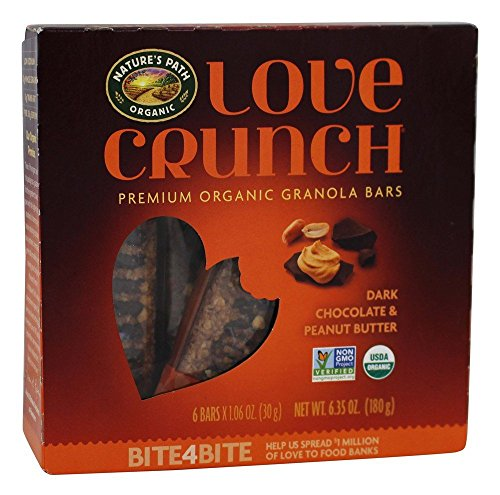 Nature's Path Organic - Love Crunch Premium Organic Granola Bars Dark Chocolate & Peanut Butter - 6 Bars