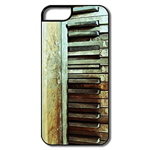Cute Piano Keyboard IPhone 5/5s Case For Team by supermalls