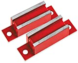 Master Magnetics LM-20BX2 Magnet Catch, Industrial Type with Mounting Holes Painted Red, 3-Inch Length, 0.75-Inch Width, 0.562-Inch Height, 20 Pounds (Pack of 2)